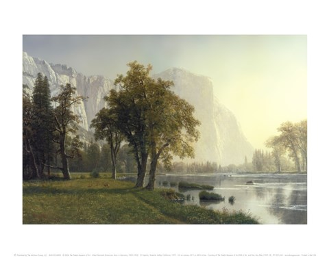 Framed El Capitan, Yosemite Valley, California, 1875 Print