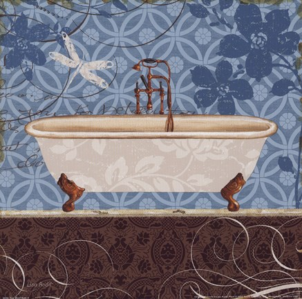 Framed Eco Motif Bath II Print