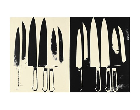 Framed Knives, c. 1981-82 (cream and black) Print