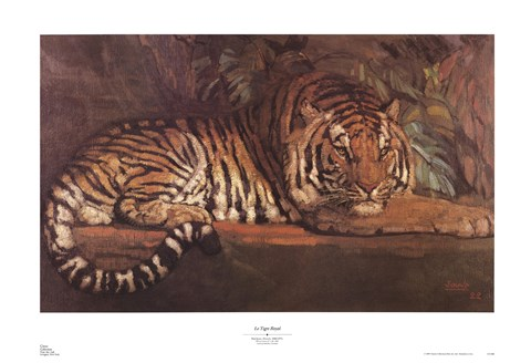 Framed Tigre Royal Print