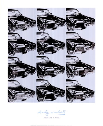 Framed Twelve Cars, 1962 Print