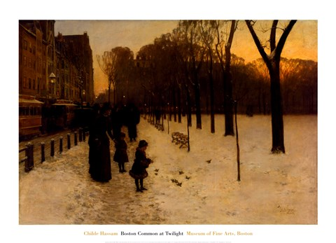 Boston Common At Twilight 1885 86 Fine Art Print By