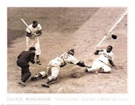 Jackie Robinson Stealing Home, May 15, 1952  Fine Art Print