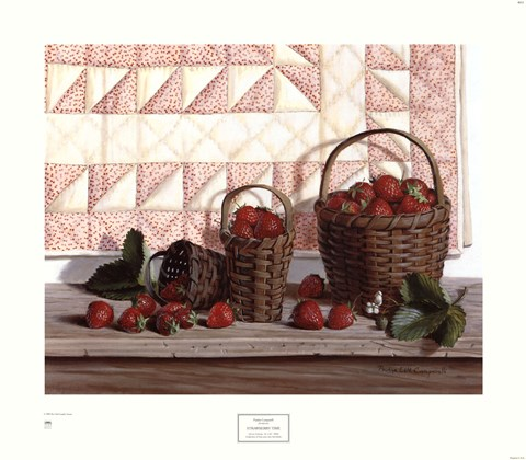 Strawberry Time Fine Art Print By Pauline Eble Campanelli
