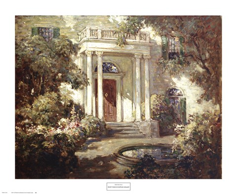 Framed Front Porch in Dappled Sunlight Print
