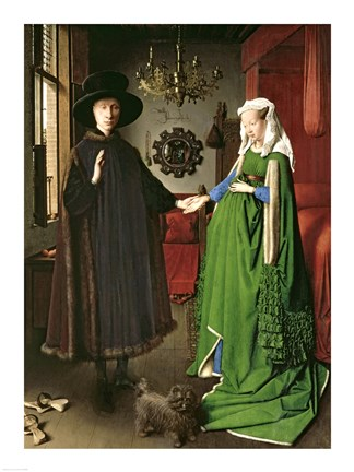 Framed Portrait of Giovanni Arnolfini and his Wife Giovanna Cenami Print