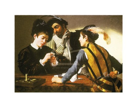 The Cardsharps by Caravaggio art print