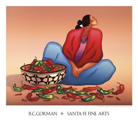 Chile Fiesta Fine Art Print By R C Gorman At