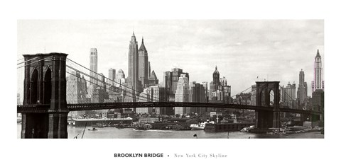 Framed Brooklyn Bridge - panorama Print