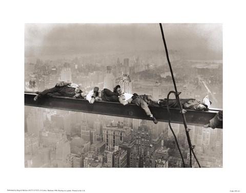 Rockefeller Center 1932 Resting On A Girder Fine Art