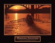 Working Together - boat  Fine Art Print