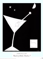 Black and White Martini I Art