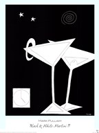 Black and White Martini II Art