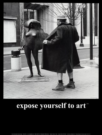 Framed Expose Yourself to Art Print