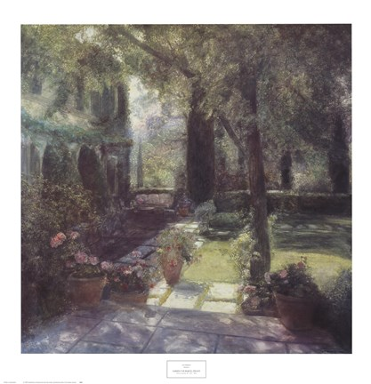Framed Garden for Marcel Proust Print