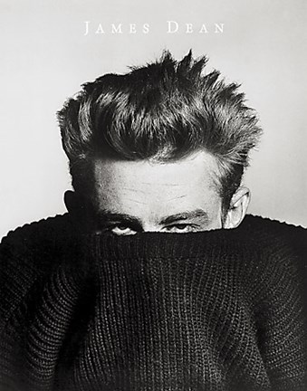 Framed James Dean in Sweater,.1955 Print