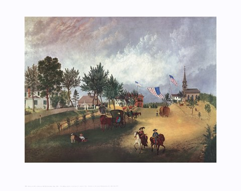 Framed Barnstable Mass 1857 Print