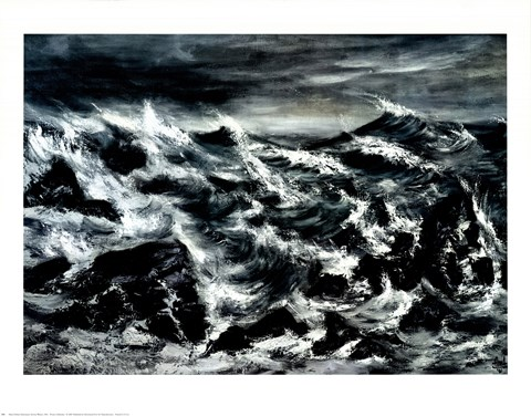 Framed Stormy Waters Print