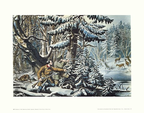Framed American Winter Sports Print