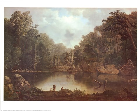 Framed Blue Hole Flood Waters Print