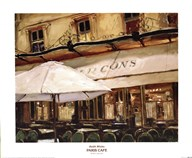 Keith Wicks - Paris Cafe Size 23.63x19.63