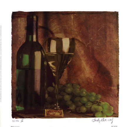 Framed Wine II Print