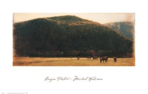 Framed Canyon Pasture Print