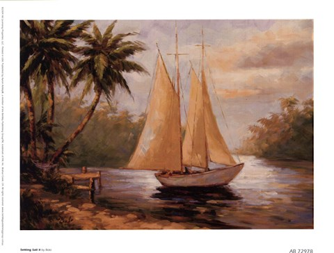 Framed Setting Sail II Print