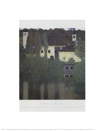 Framed Unterach Manor On The Attersee Lake, Aus Print