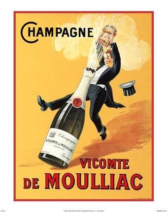 Champagne Vicomte De Moulliac Fine Art Print By Norman