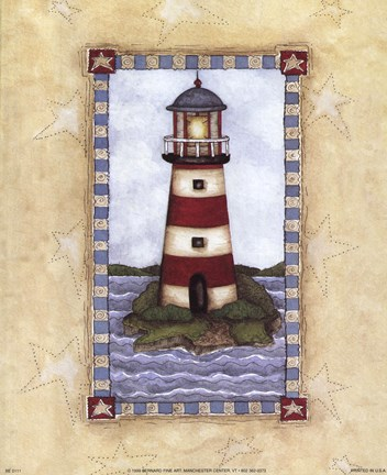 Framed Lighthouses I Print