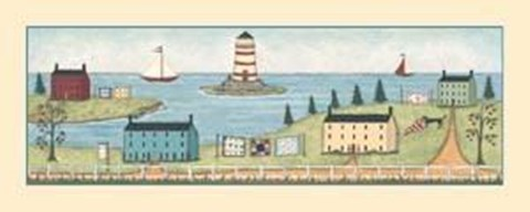 Framed Lighthouses Print