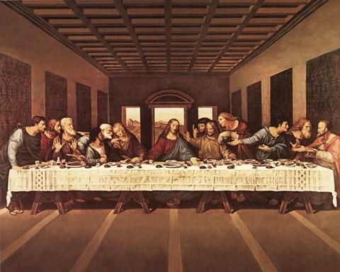 Last Supper Fine Art Print By Leonardo Da Vinci At