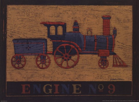 Framed Engine No. 9 Print