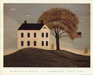 House with Flag  Fine Art Print