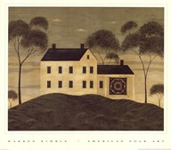 House with Quilt  Fine Art Print
