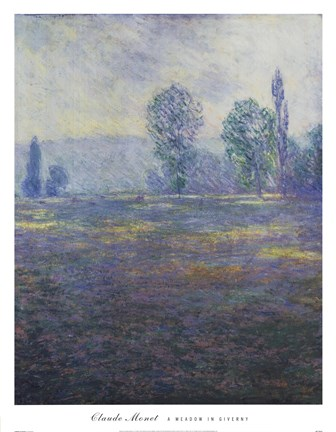 Framed Meadow in Giverny Print