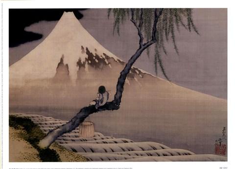 Boy On Mt Fuji Fine Art Print By Katsushika Hokusai At