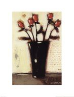 Red Roses in Black Vase II
