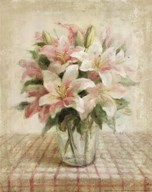 Cottage Lilies in Pink Art