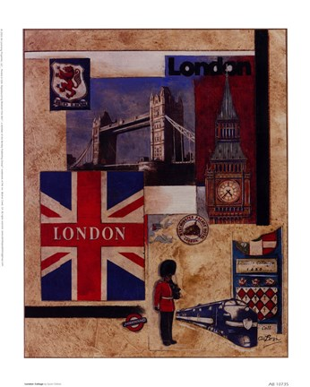 Framed London Collage Print