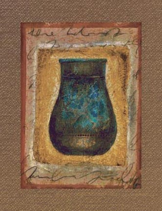Framed Global Script Urn l Print