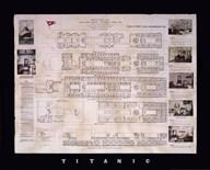 Titanic Deck Plan  Fine Art Print