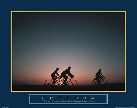 Framed Freedom - Family Biking Print