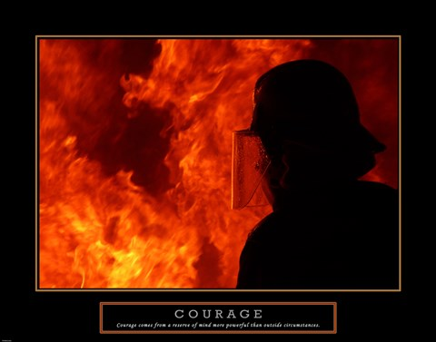 Framed Courage - Fireman Print
