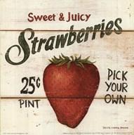 Sweet and Juicy Strawberries  Fine Art Print