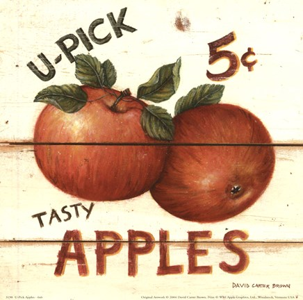 Framed U-Pick Apples Print