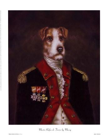 Master Rufus De Terrier Fine Art Print By Massy At
