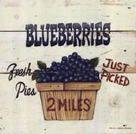Blueberries Just Picked  Fine Art Print