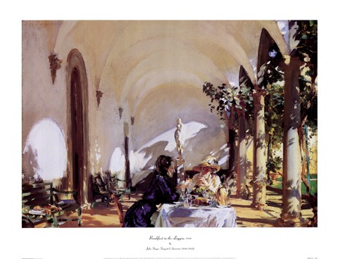 Framed Breakfast In The Loggia Print